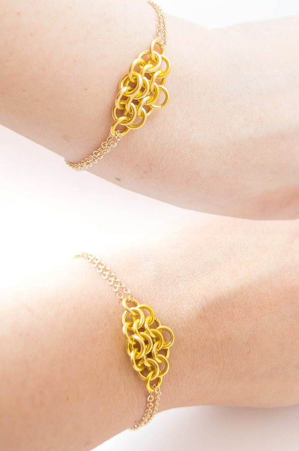 KUMO Gold Chainmaille Bracelet by JeannieRichard