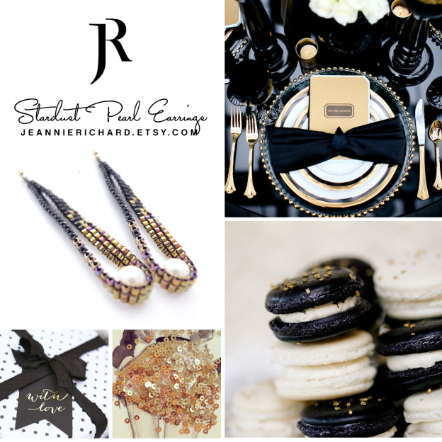 JeannieRichard Stardust Pearl Earrings